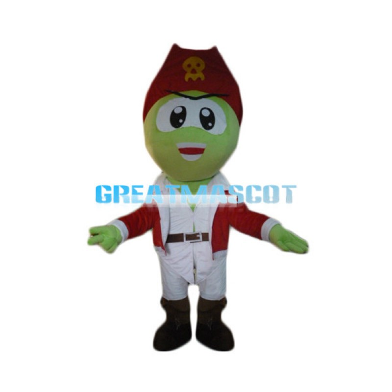 Pirate Green Snake Mascot Costume