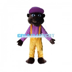 Adult Cartoon Brown Mouse Mascot Costume