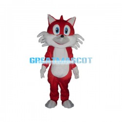 Friendly Red Fox Cartoon Mascot Costume Adult Size
