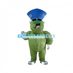 Cool Cartoon Green Furry Monster Mascot Costume