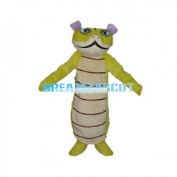 Yellow Snake Cartoon Mascot Costume Adult Size
