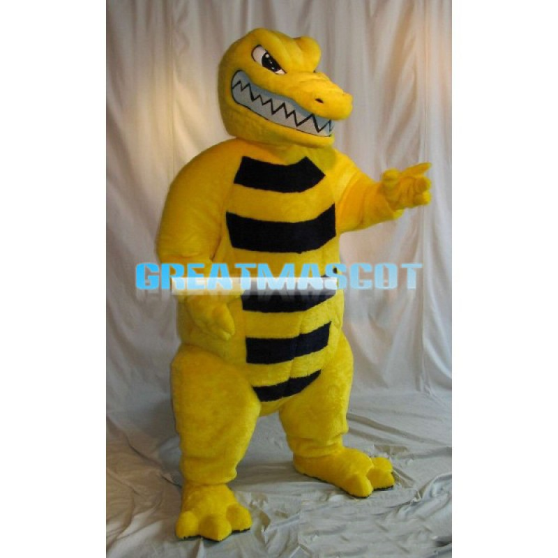 Fierce Golden Gator High School Mascot Costume