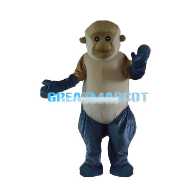 2nd Version Of Proboscis Monkey Mascot Costume