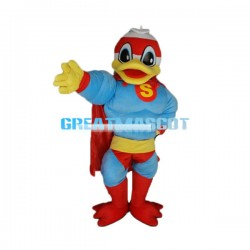 Muscle Duck Superman Lightweight Cartoon  Mascot Costume Adult Size