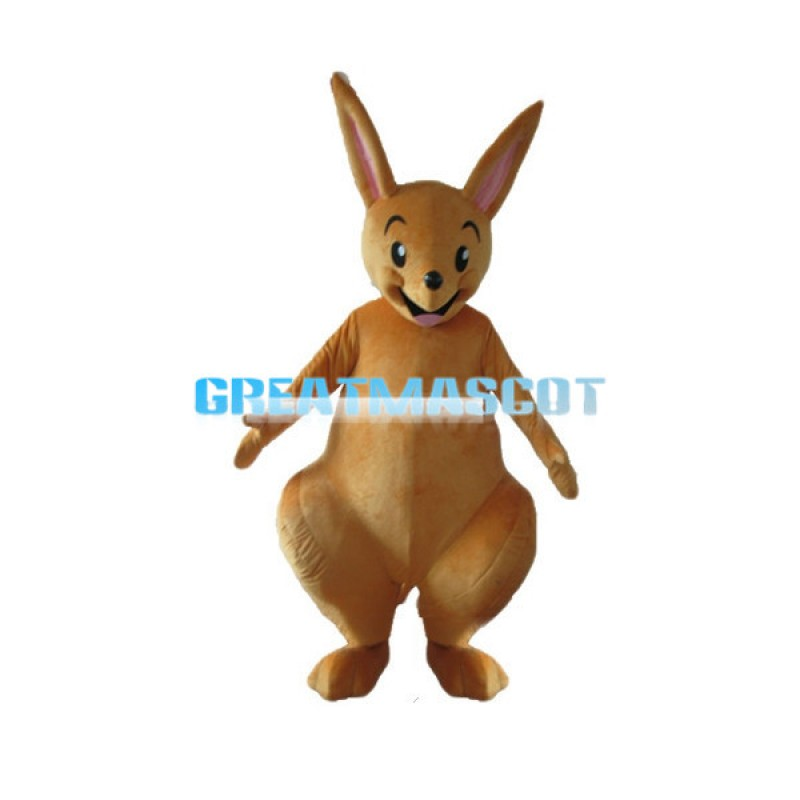 Cute Light Brown Baby Kangaroo Mascot Costume For Adult