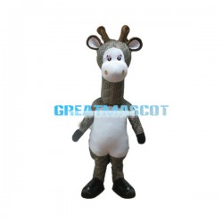 Cute Cartoon Leopard-spotted Giraffe Mascot Costume For Adult