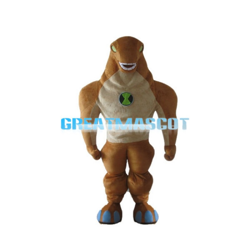 Power Brown Lizard Lightweight Mascot Costume