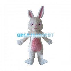 Adult Plush Beige Rabbit Mascot Costume