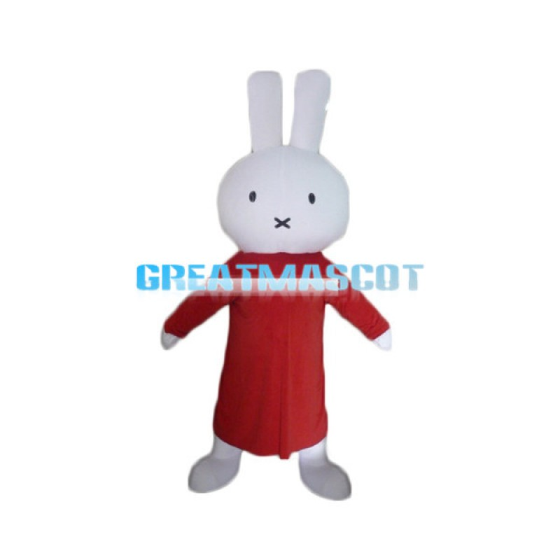 Adorable Miffy the Little Rabbit Mascot Adult Costume