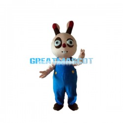 Mischievous Cartoon Rabbit Mascot Adult Costume