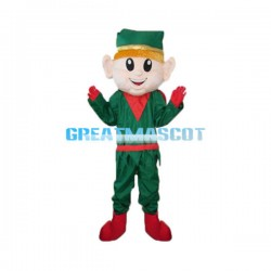 Optimistic Christmas Elf Mascot Costume