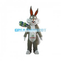 Happy Bugs Bunny With Toothbrush Mascot Costume
