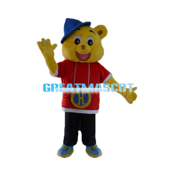 Hip Hop Harry the Yellow Bear Mascot Costume