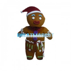 Adult Cartoon Brown Christmas Boy Mascot Costume