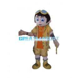 Explorer Boy Mascot Costume