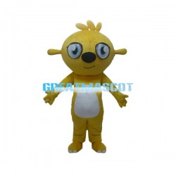 Adult Cartoon Yellow Dog Mascot Costume