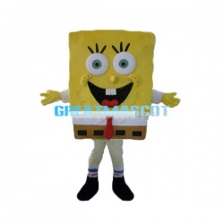 Enthusiastic SpongeBob Mascot Costume