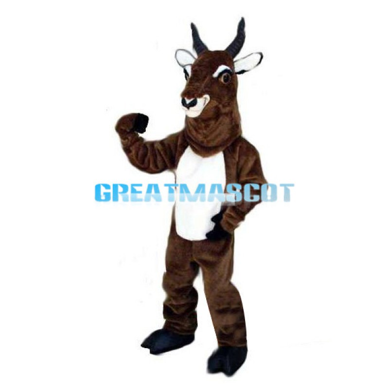 Brown Goat Mascot Adult Costume