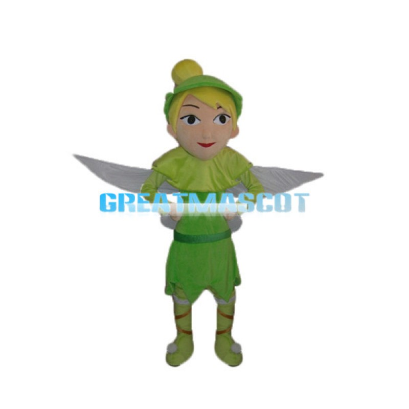 Adult Size Peter Pan With Wings Mascot Cartoon Character Costume