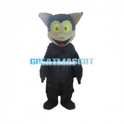 Cute Black Bat Mascot Adult Costume