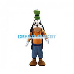 Adult Size Goofy Dog Mascot Cartoon Character Costume