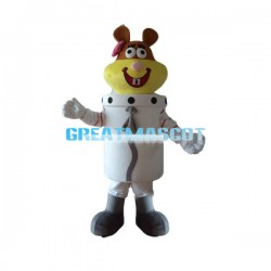 Cute Cartoon Beaver Astronaut Mascot Costume