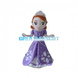 Friendly Princess Mascot Costume Cartoon Character Costume