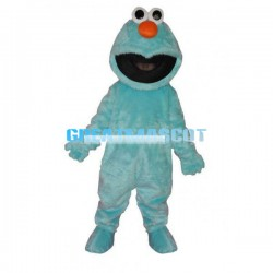 Adult Plush Blue Sesame Street Mascot Cartoon Character Costume