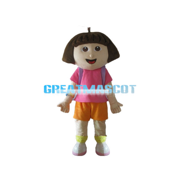 Optimistic Girl Dora Mascot Costume