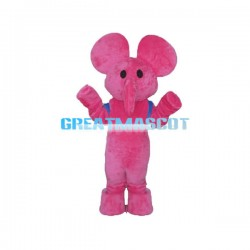Adult Size Cute Cartoon Pink Elephant Mascot Costume