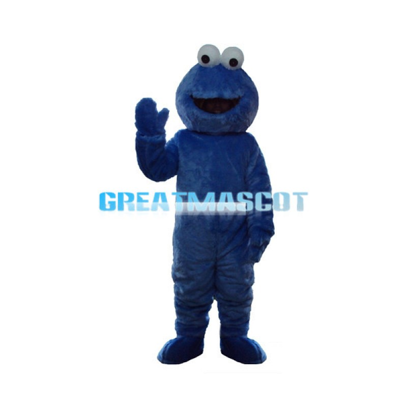 Voracious Blue Cookie Monster Mascot Adult Costume