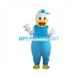 Cute Donald Duck In Hat Mascot Cartoon Character Costume