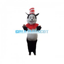 Evil Cartoon Cat In The Hat Mascot Adult Costume