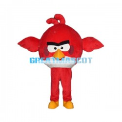 Adult Size Red Angry Bird Mascot Cartoon Character Lightweight Costume