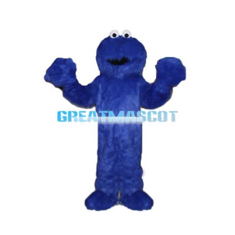 Voracious Blue Cookie Monster Mascot Costume