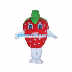 Cartoon Strawberry Lightweight Mascot Adult Costume