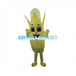 Deluxe Cartoon Peeled Banana Lightweight Mascot Adult Costume