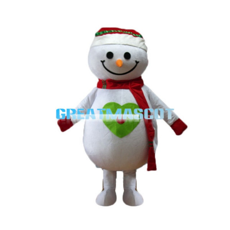Christmas Snowman Mascot Costume For Adult