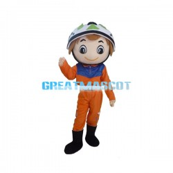 Friendly Fireman Mascot Costume