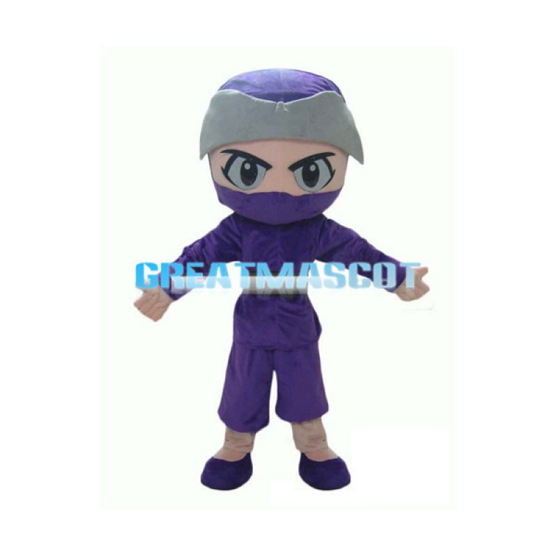 Purple Ninja Mascot Costume