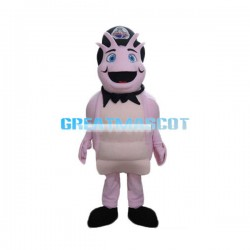 Smiling Cartoon Pink Snail Mascot Costume
