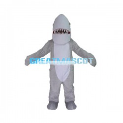 Fierce Grey Shark Mascot Costume