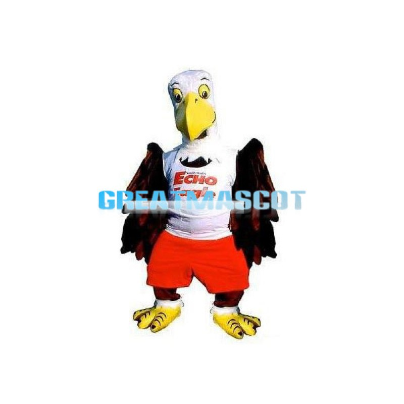 Cute Eagle Mascot Animal Cartoon Fancy Dress Costume Adult Size