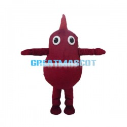 Cute Red Potato Cartoon Mascot Costume