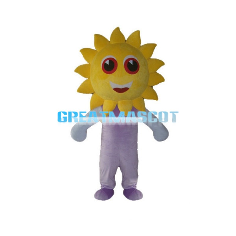 Cartoon Sun Man Mascot Costume
