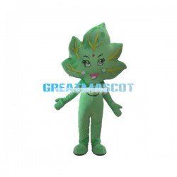 Cartoon Green Leaf Mascot Costume