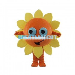 Cute Cartoon Sunflower Mascot Costume