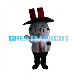 Cute Cartoon Rabbit Mascot Costume Animal  Fancy Dress Adult Size