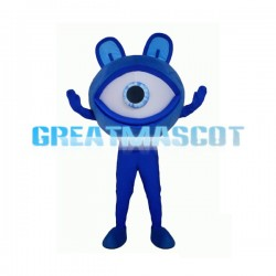 Big Blue Eye Monster Mascot Adult Costume