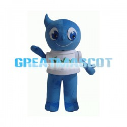 Cute Cartoon Blue Water Drop Mascot Adult Costume